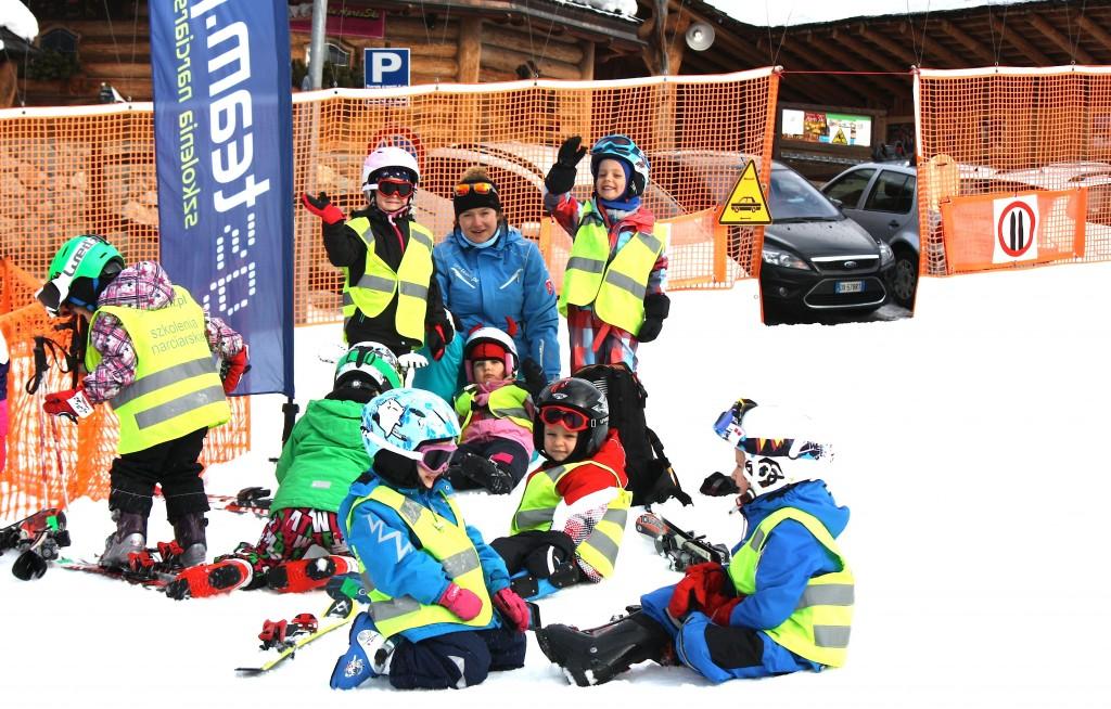 Narty z dziećmi Włochy - polscy instruktorzy w Alpach