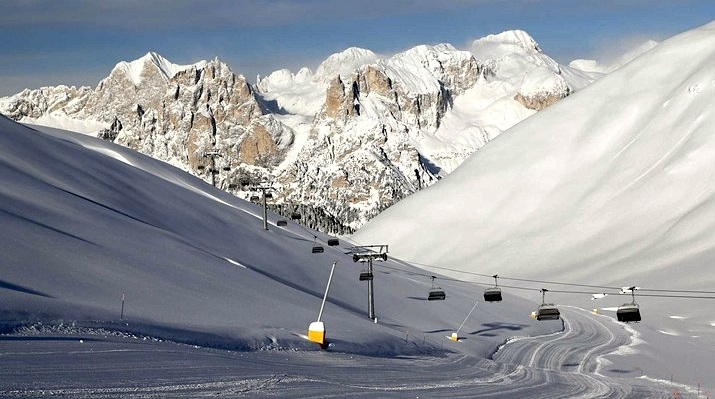 gdzie na narty wlochy dolomity val di fassa